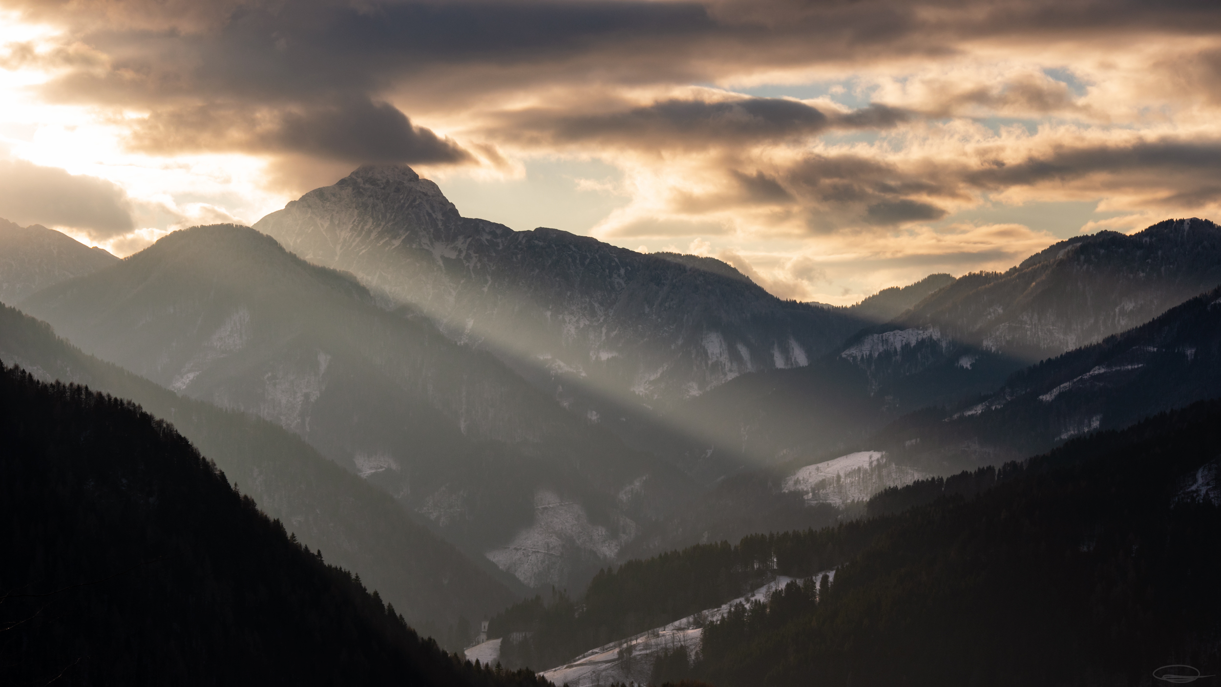 Dramatic Sunset Clouds, Slovenia - Jezersko